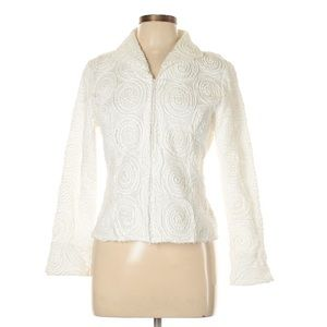 Embellished cotton blazer by Samuel Dong-NWOT